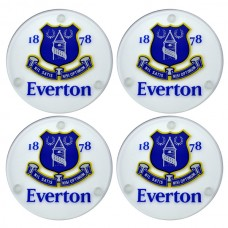 EVERTON 4 PACK GLASS COASTERS