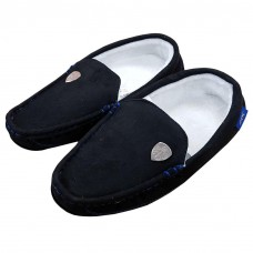 LEEDS UNITED BLACK MOCCASIN SLIPPERS