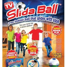 BLUE SUPER SOFT SLIDA HOVER BALL INDOOR FOOTBALL GAME FOAM BALL WITH SLIDING BASE TOY