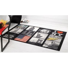 BIG APPLE,I LOVE NEW YORK RUG 100CM X 160CM